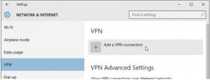 Image of Window 10 VPN setup