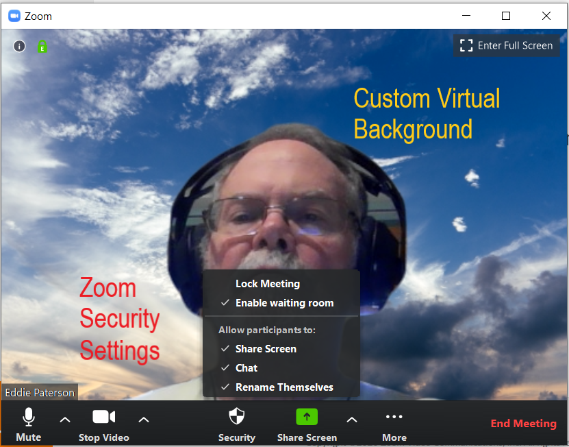 An image of Zoom video conferencing at paac-it.com